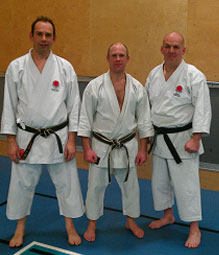 Nick and Tony with guest instructor sensei Simon Staples (centre)